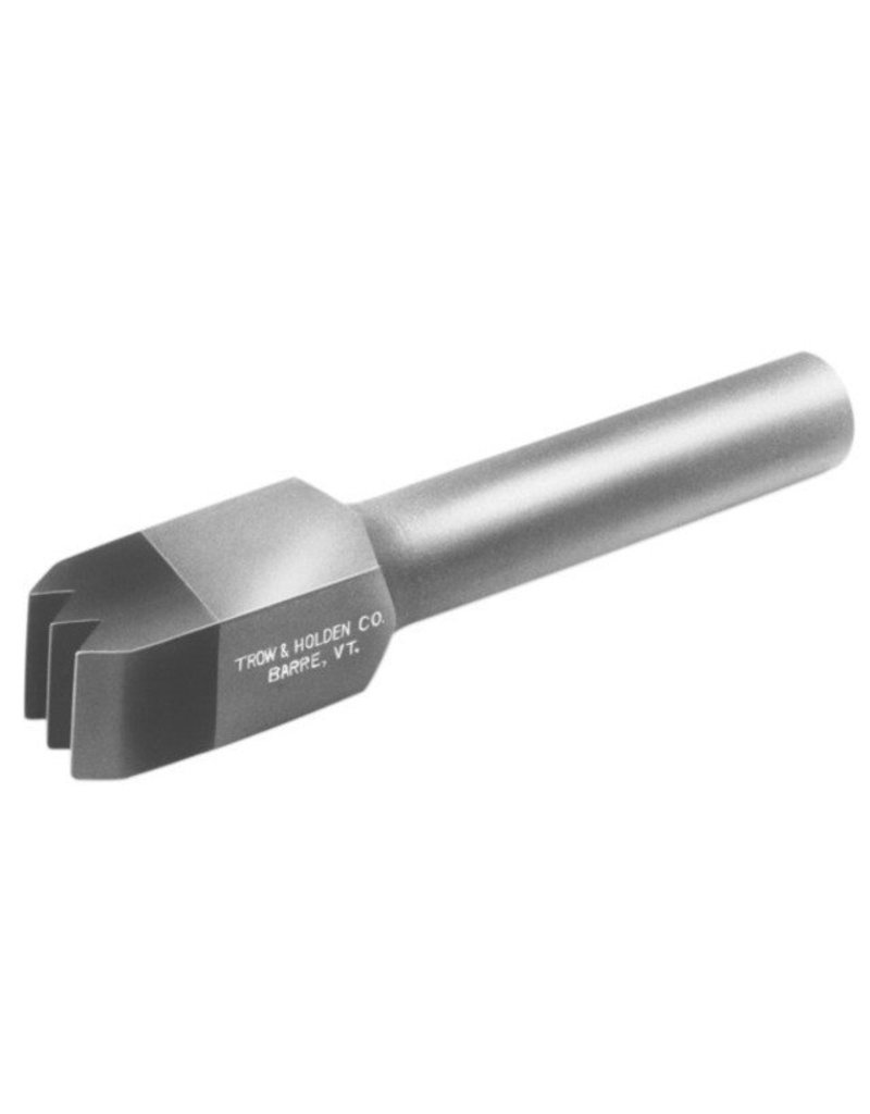 Trow & Holden Carbide Pneumatic 3 Blade Chisel 1/2''