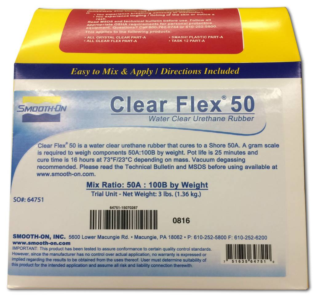 Smooth-On Clear Flex 50 Trial Kit