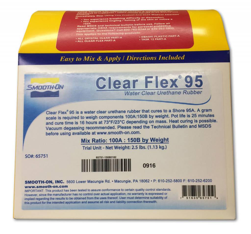 Smooth-On Clear Flex 95 Trial Kit