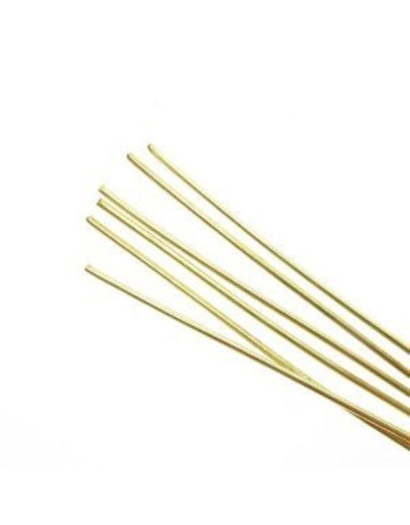 Amaco Soft Metal Rods Brass Medium 16 gauge
