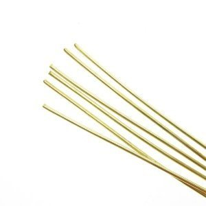 Amaco Soft Metal Rods Brass Medium 16 gauge