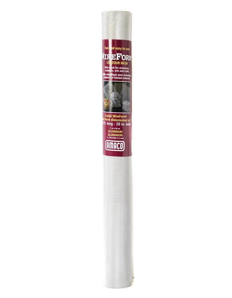 "Amaco Contour Mesh - Aluminum 1/16"" 10'x20"" Roll Wireform"