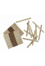 Wood Craft Sticks - Natural - 4.5 inches - 150 pieces