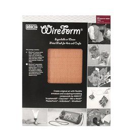 Amaco Decorative Copper Mesh 16''x20'' 2 Sheets Wireform