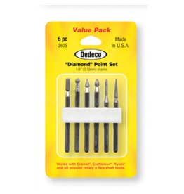 Dedeco International Diamond Point Set 6pc