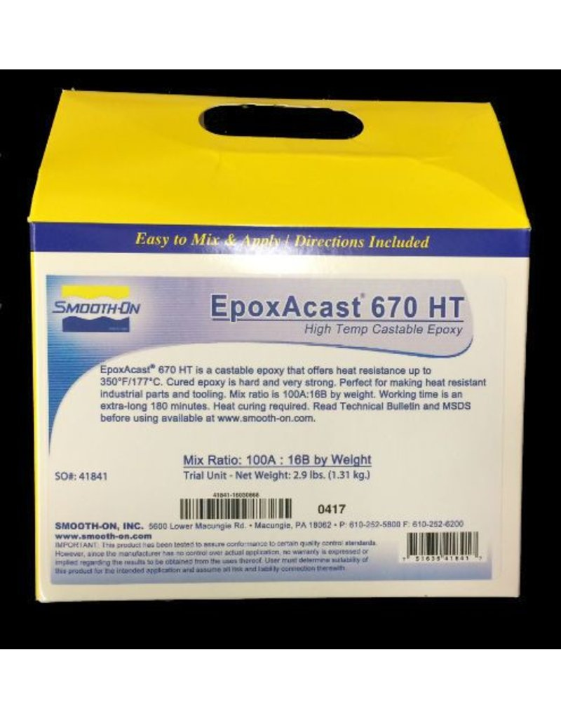 Smooth-On EpoxAcast 670 Trial Kit Special Order