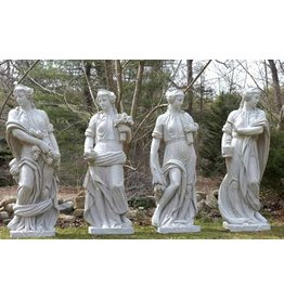Just Sculpt Four Seasons Fiberglass Sculptures (Set of Four)