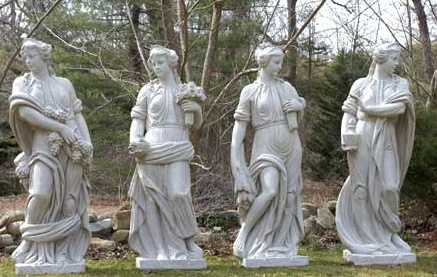 Four Seasons Fiberglass Sculptures (Set of Four)