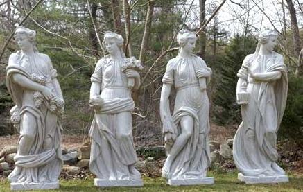 Four Seasons Fiberglass Sculptures (Set of Four)