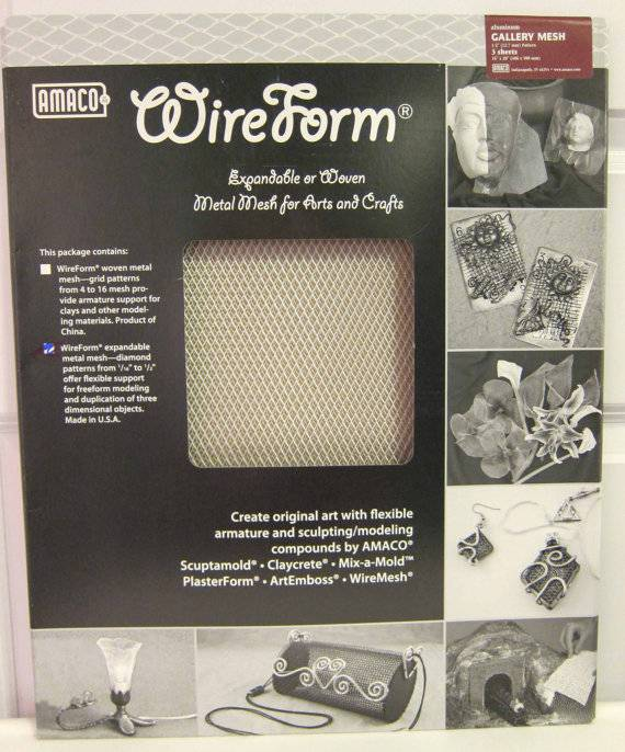 Amaco Gallery Mesh 16''x20'' 3 Sheets Wireform