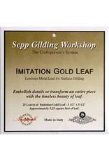 Sepp Leaf Imitation Gold Leaf Book 25 Sheets