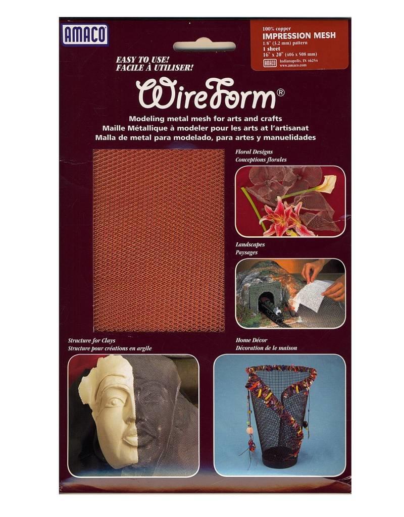Amaco Impression Mesh 16''x20'' 1 Sheet Wireform