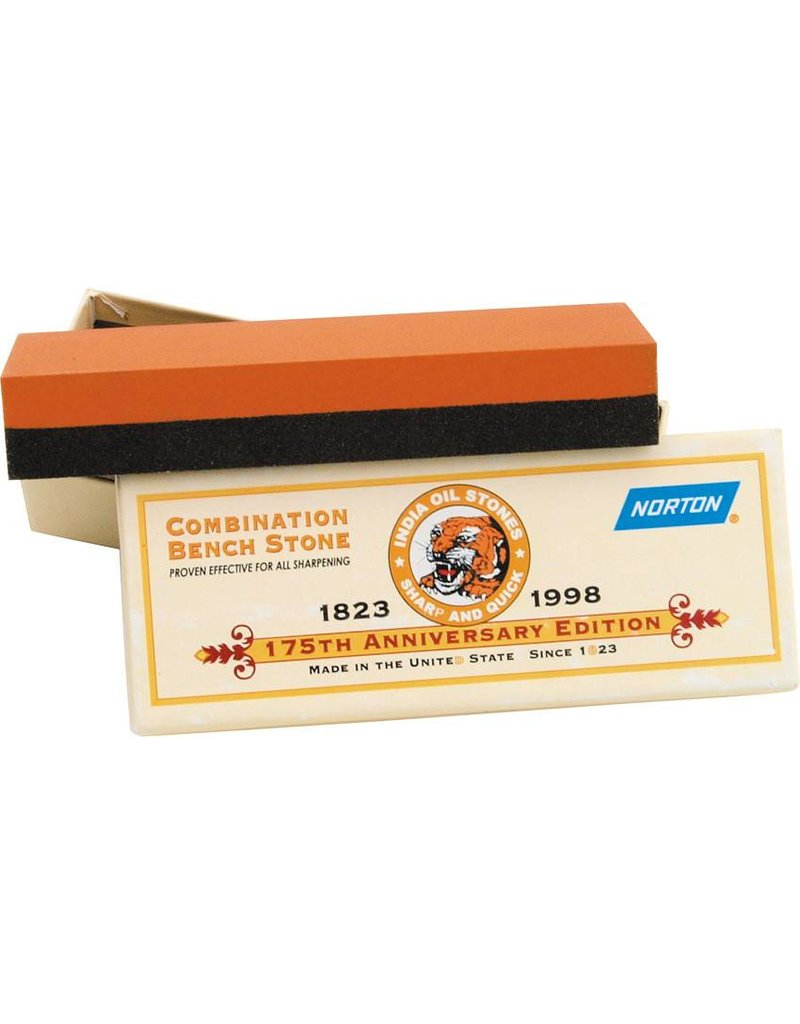 Norton India Combo Sharpening Stone 6''x2''x1''