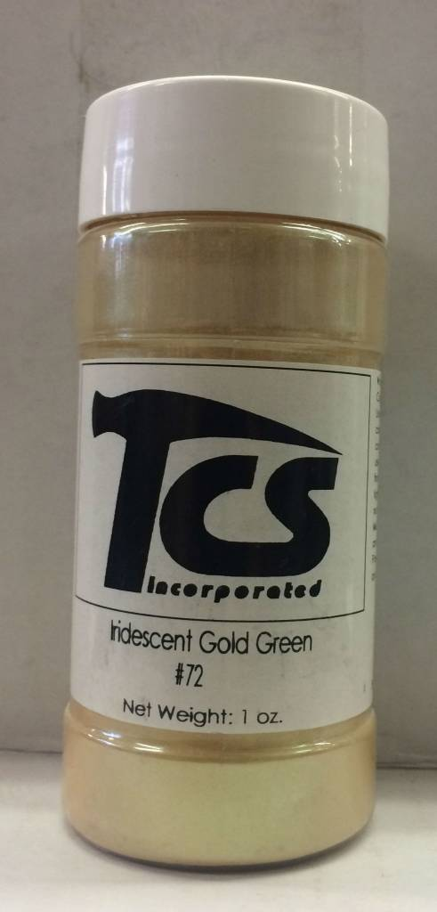 #72 Iridescent Gold Green Mica 1oz
