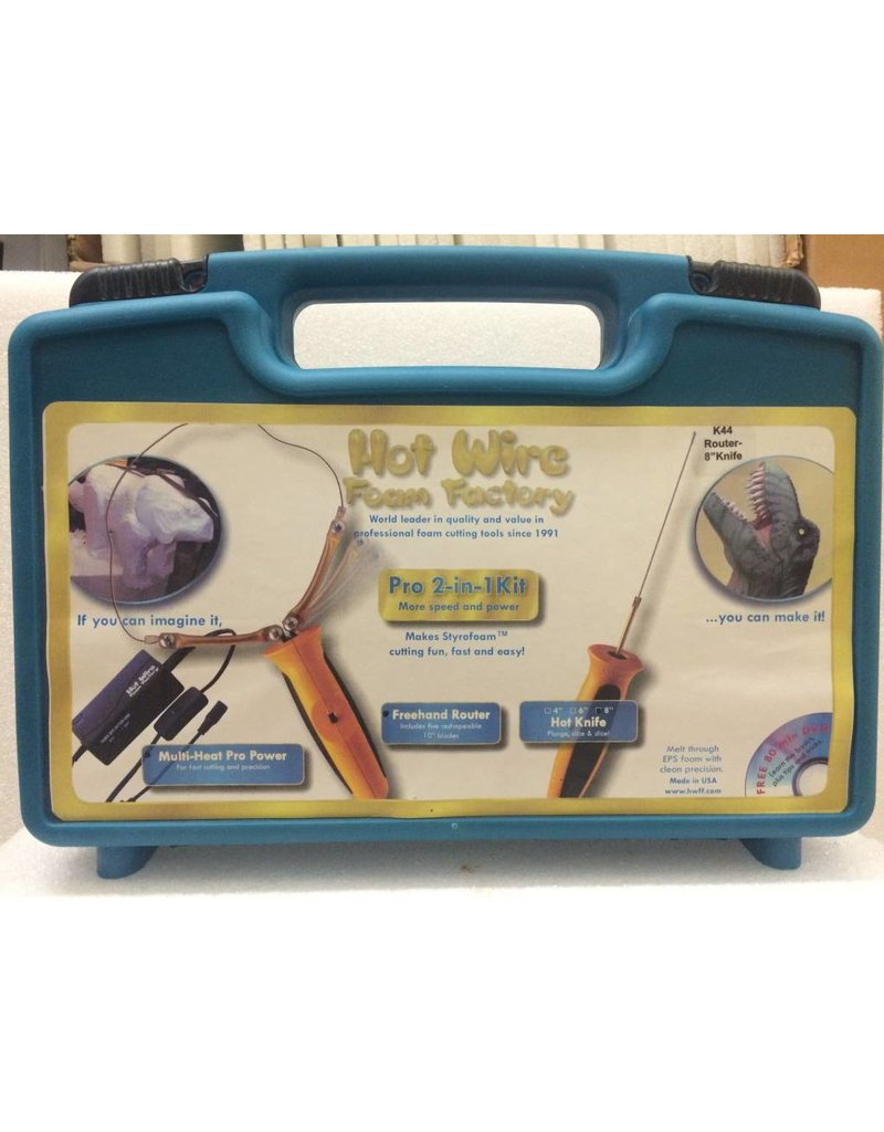 "Hot Wire Foam Factory K44 Pro 2-in-1 Kit (Freehand Router & 8"" Hotknife)"