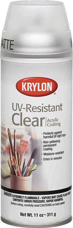 Krylon Krylon Clear Matte UV-Resistant 12oz Spray Can 1309