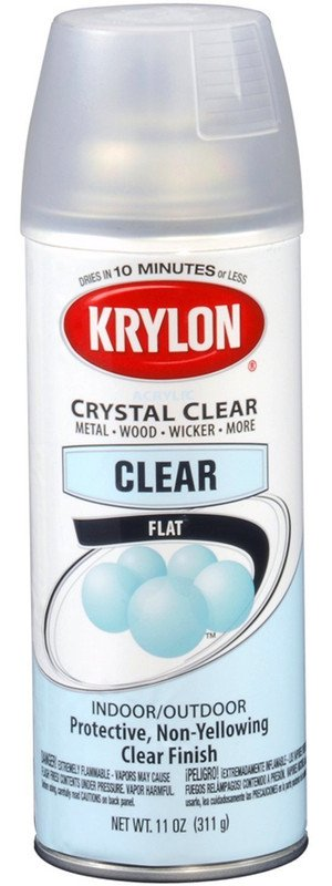 Krylon Krylon Acrylic Flat Spray 12oz Spray Can 3530