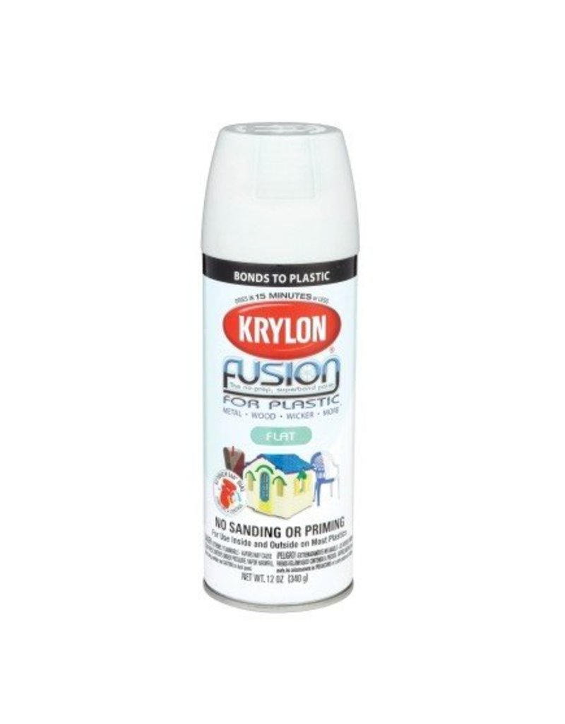Krylon Krylon Fusion Flat White 12oz Spray Can 2518