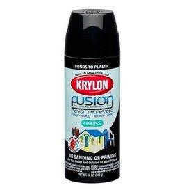 Krylon Krylon Fusion Gloss Black 12oz Spray Can 2321