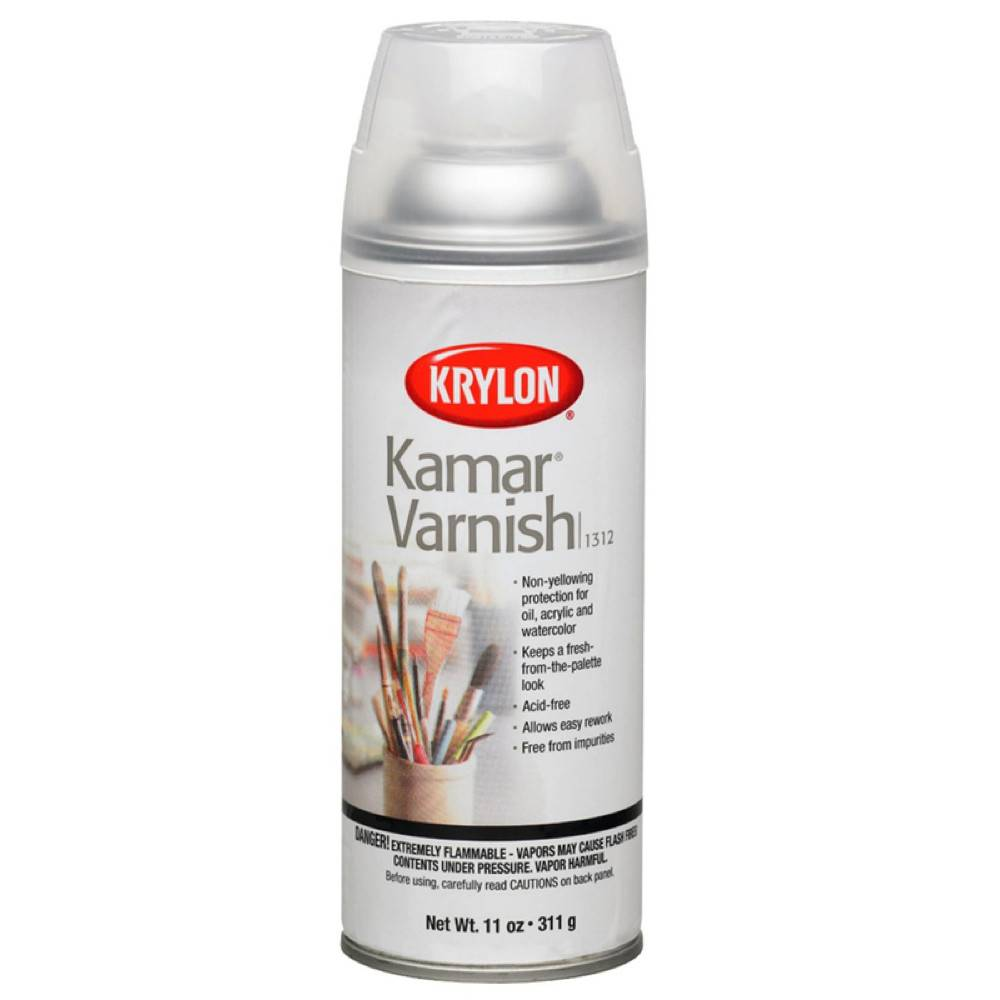 Krylon Krylon Kamar Varnish 12oz Spray Can 1312