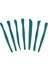 Green Plastic Clay Tool Set (7 pieces)
