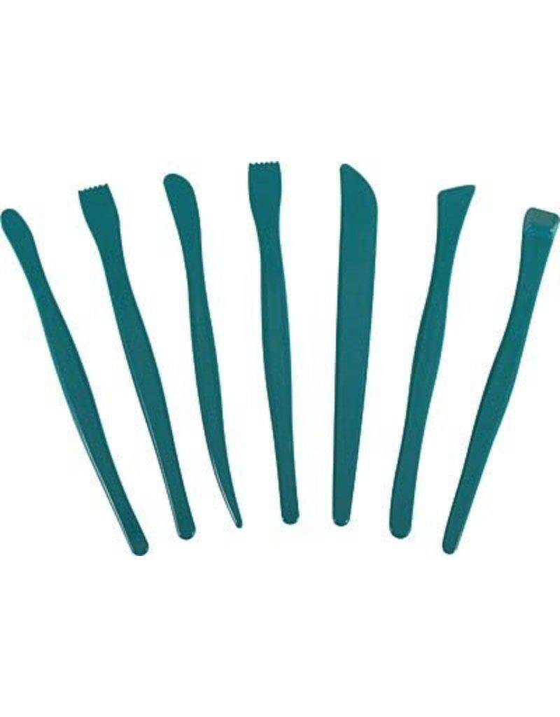 Just Sculpt Green Plastic Clay Tool Set (7 pieces)