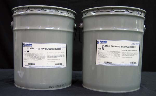 Polytek PlatSil 71-20 10 Gallon Kit