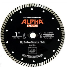 Alpha Alpha Plus Diamond Blade 7in