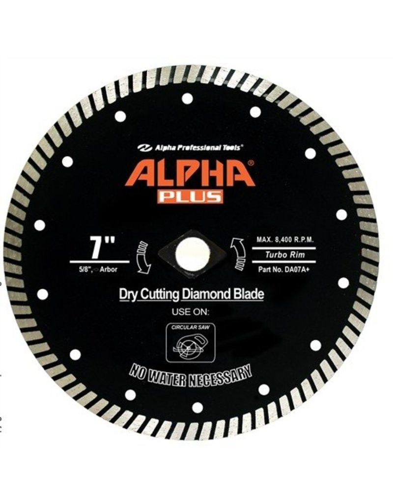 Alpha Alpha Plus Diamond Blade 7in