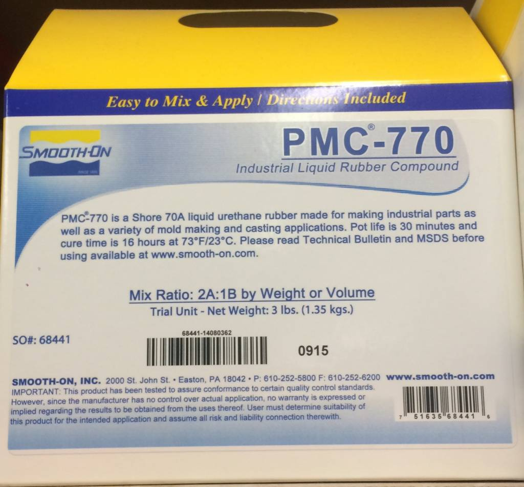 Smooth-On PMC 770 Dry Trial Kit
