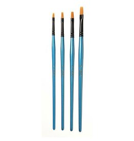 Darice Premium Flat Brush Set #2,4,6,8