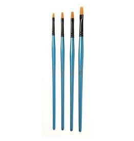 Darice Premium Flat Brush Set #2,4,6,8