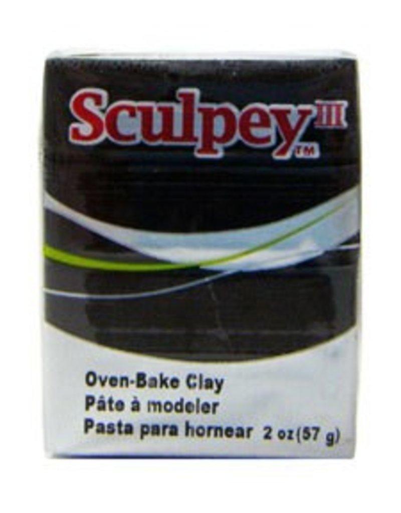 Polyform Sculpey III Basic Black 2oz