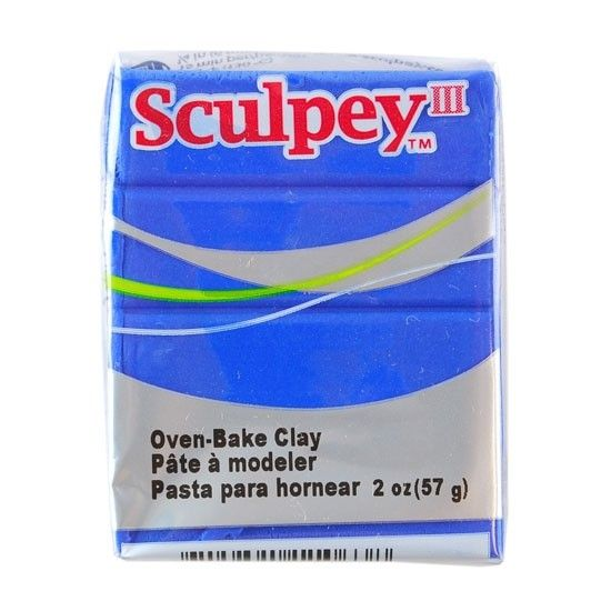 Polyform Sculpey III Blue 2oz