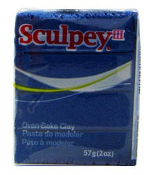 Polyform Sculpey III Blue Pearl 2oz
