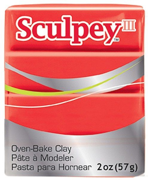 Polyform Sculpey III Red Hot Red 2oz