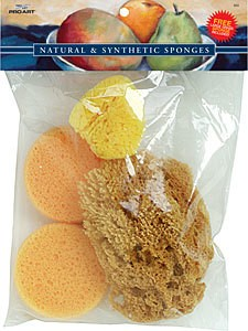 Silk Set Natural Sponges