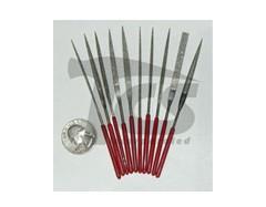 Small Diamond Needle File Set Fine 10pc