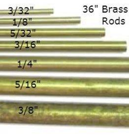 K & S Engineering Solid Brass Rod 5/16'' x 36'' #1166