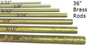 K & S Engineering Solid Brass Rod 5/16'' x 36'' #1166