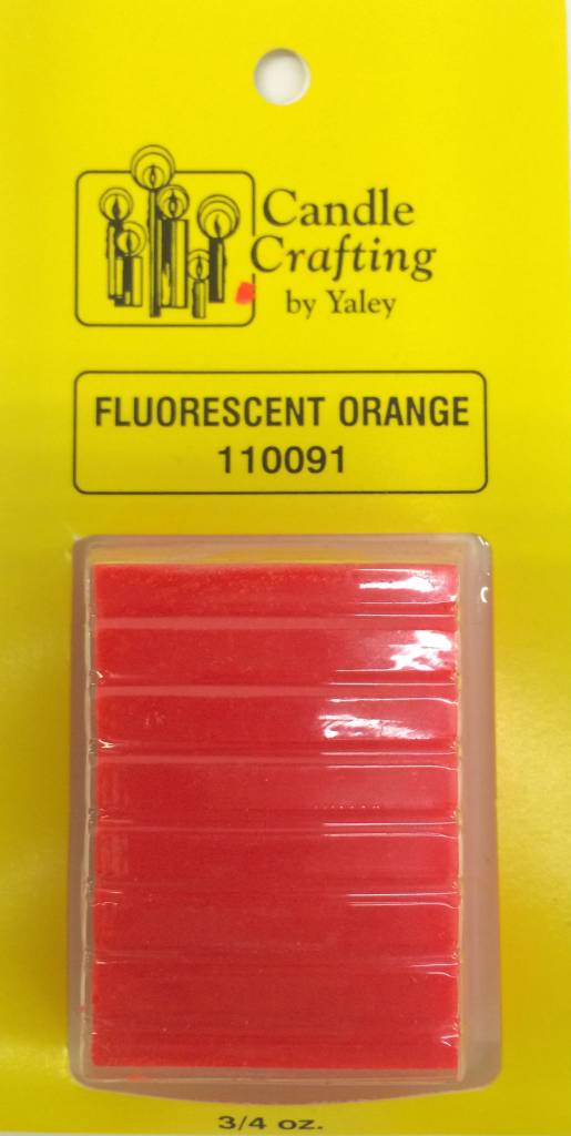 Yaley Enterprises Solid Wax Dye Fluorescent Orange