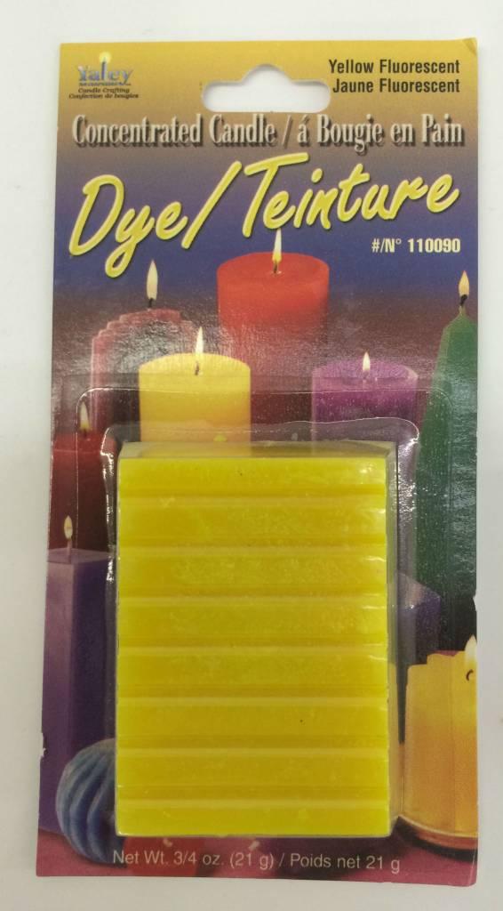 Yaley Enterprises Solid Wax Dye Fluorescent Yellow