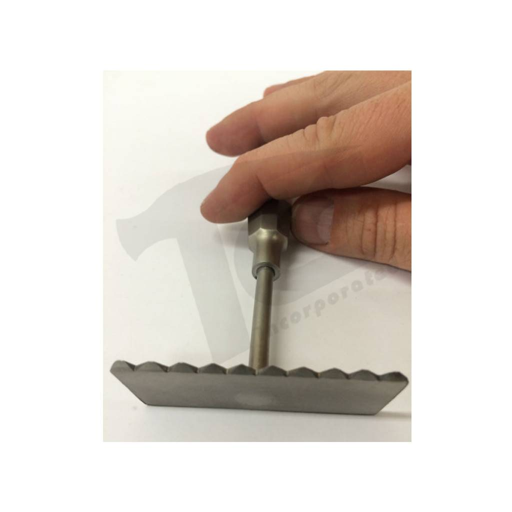 Just Sculpt Stainless Rake 2 1/2in Pointed Teeth 432842022