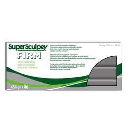 Polyform Super Sculpey Gray Firm 1lb