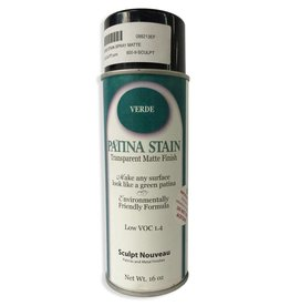 Sculpt Nouveau Patina Stain EF Matte Verde 12oz Spray Can