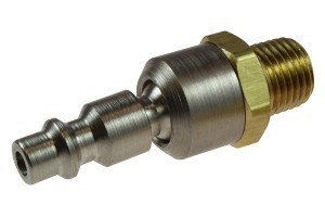 Coilhose 1/4'' Industrial Ball Swivel Connector, 1/4'' MPT 15-04BS