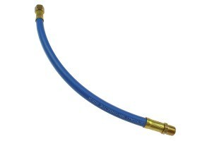 Coilhose 12'' Whip Nitrile Blend Pigtail, 1/4'' MPT x FPT Swivel (Ball Type) RP0412