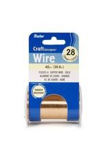 Darice 28 Gauge Gold Wire