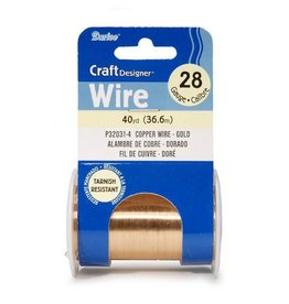Darice 28 Gauge Gold Wire