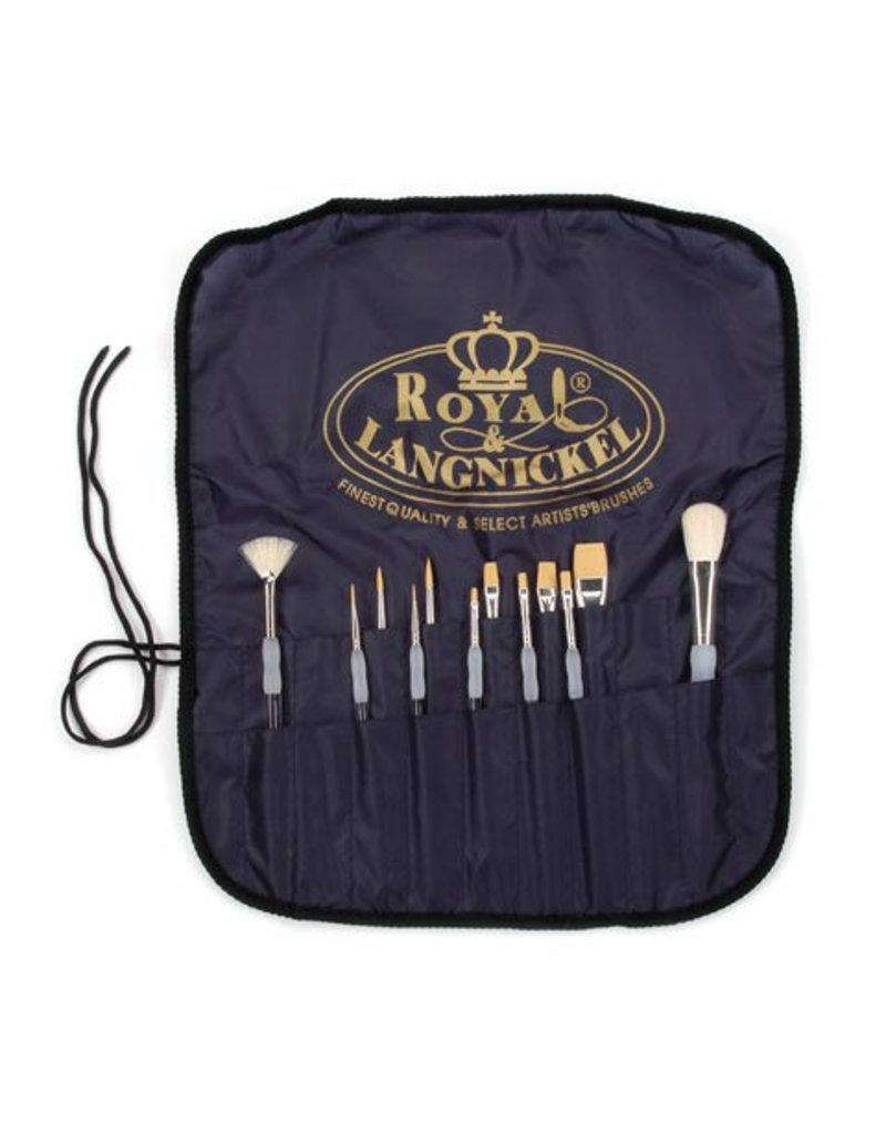 Royal & Langnickel Royal Artist 12pc Brush Set - Soft-Grip Handles